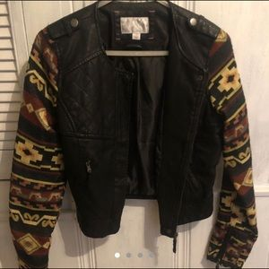 Xhiliration Faux Leather Jacket